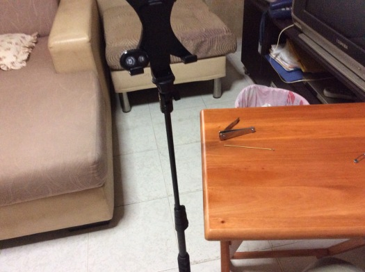 This is my Bluetooth Remote Shutter and my tripod for my iPad.